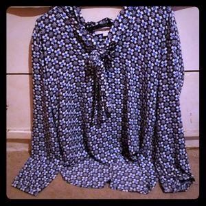 Ann Taylor LOFT blouse with bow tie
